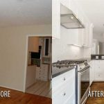 before and after residential remodel